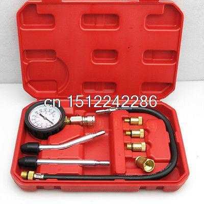 Car Truck Engine Oil Pressure Test, Cylinder Compression Tester Gauge Tool Kit S