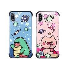 Samtsui Soft TPU Dinosaur Pig Cute Cartoon Phone Case For Iphone7 8 7Plus 8Plus X XS XR XSMAX Casing Cover Fundas