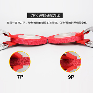 Image 4 - Do polerowania metalu koła 100 * 16mm7p 9p włókniny tarcza ścierna z włókna nylonowego tarcza polerska tarcza ścierna