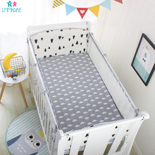 5pcs Breathable Mesh Crib Bumper Baby Bedding bumpers Kid in