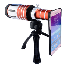 Telescopic 50x Zoom Optical Mobile Phone Camera Telephoto Lens with Case for iPhone 5 6 6plus