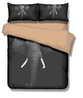 WARMTOUR слон 3D Постельное белье Twin полный queen король постельное белье Популярные постельные принадлежности