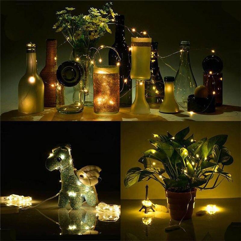1 м гирлянда Сказочный светильник 10 светодиодный на батарейках Рождественский светильник s вечерние свадебные лампы настенные наклейки для детской комнаты странные вещи