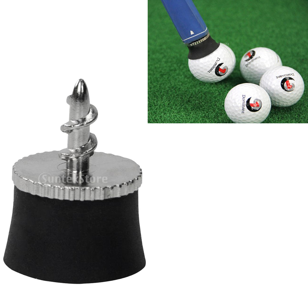 Image 3 - Golf Ball Sucker Cup Pick Ups Black Rubber Putter Suckers Screws into your putters Retrieves Ball Easily-in Golf Training Aids from Sports & Entertainment