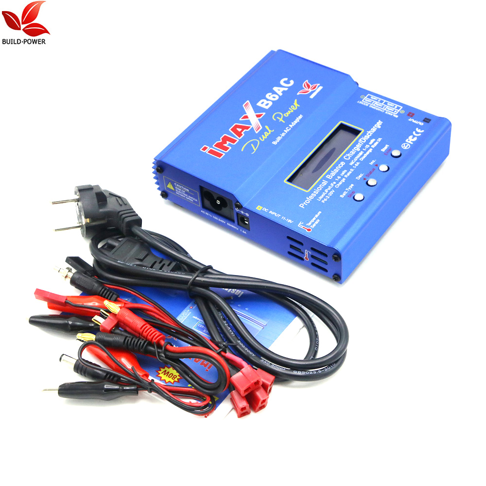 Build Power iMax B6AC 80W Digital Lipro Battery Original Balance Charger for RC Model Nimh Battery