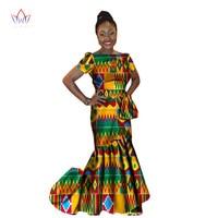 Retail african wax print dress for women African long dress 2018
