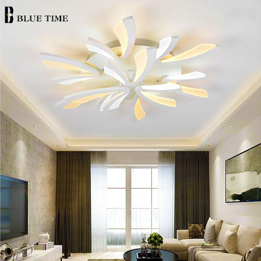 Popular White Black Frame Modern Led Ceiling Lights For