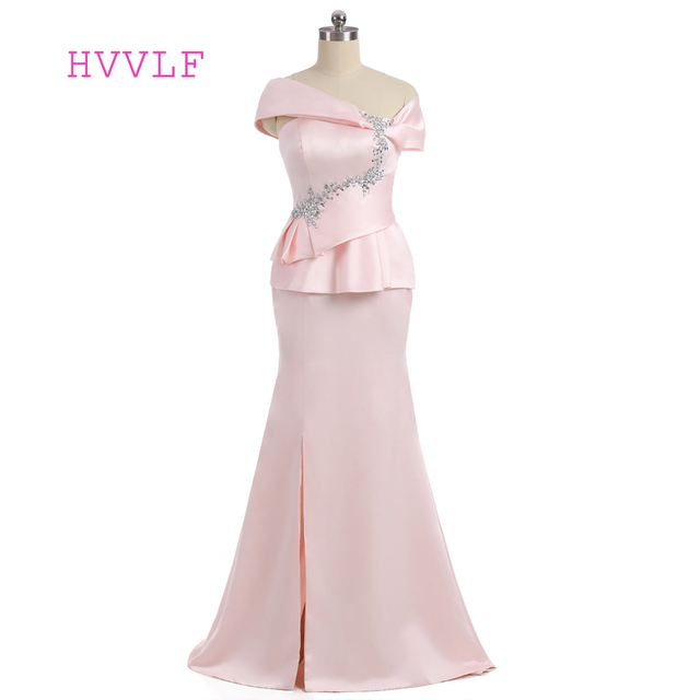 Plus Size Pink 2018 Mother Of The Bride Dresses Mermaid Cap Sleeves ...