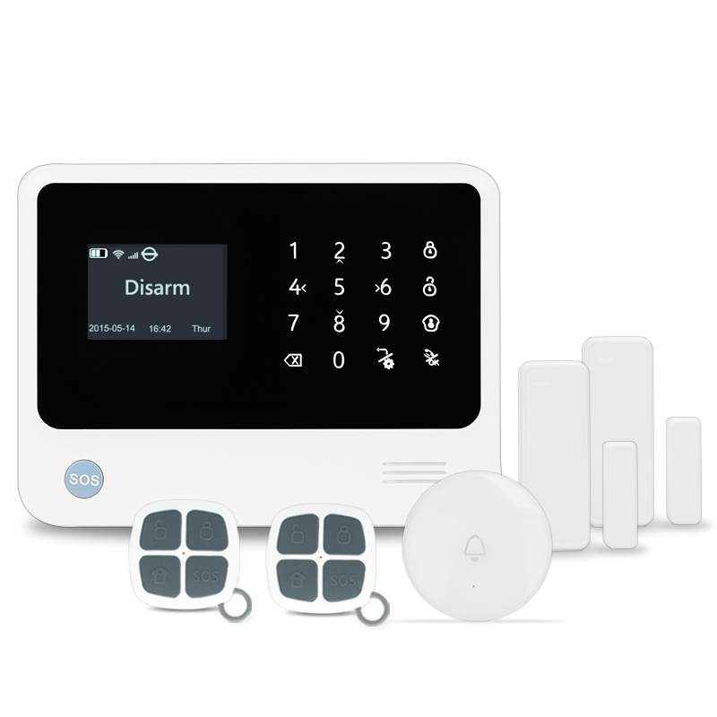 433MHz wireless security WIFI GSM home usage alarm system work with Amazon Alexa voice control smart alarm burglar alarm system