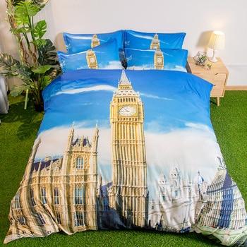 British style bedding sets 3pcs Sky quilt cover soft duvet cover comfortable pillow cases soft Good quality home textile