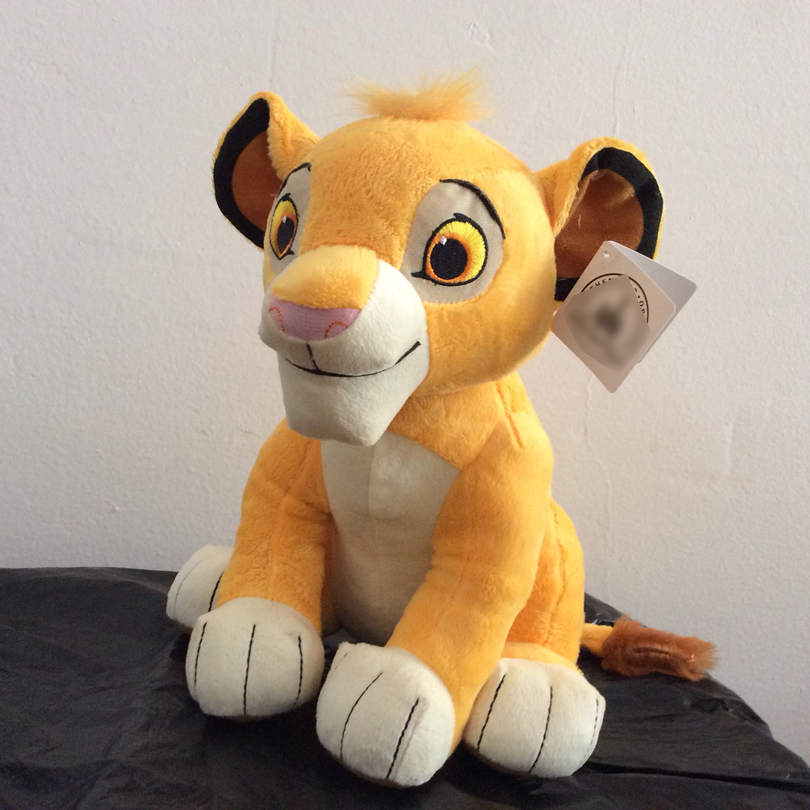 Free Shipping 30cm The Lion King Simba Soft kids doll 11 8 Young Simba Stuffed Animals
