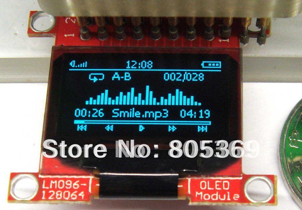 0.96 inch blue 128x64  oled display  module oled