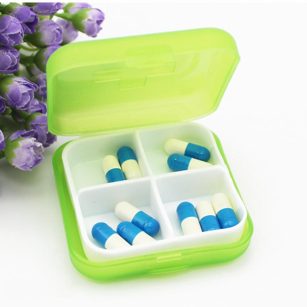 4 Slots Square Travel Pill Cases Outdoor Vitamin Cases Medicines Pill Box Portable Medicine Holder Pastillero 5