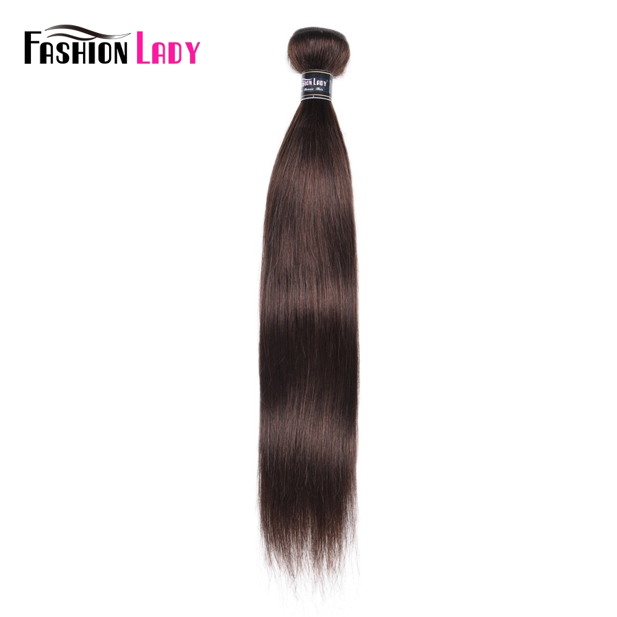 Fashion Lady Pre-colored Peruvian Hair Bundles Straight Color #2 Dark Brown Weave Human Hair 1 Piece Hair Bundles Brown Non-remy