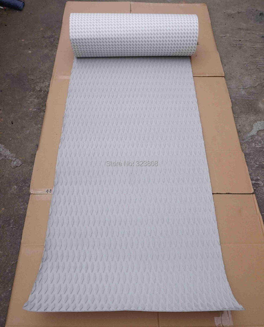 Gray Color Diamond Pattern EVA 3M Glue Skidproof Top Pad Deck Sup Board Deck Pad Grip