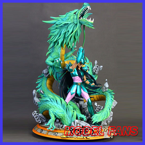 MODEL FANS IN-STOCK 60cm mrc Shiryu GK resin statue contain led light for Collection model fans saint seiya bronze saint 55cm shiryu mount lu rise dragon gk resin statue figure for collection