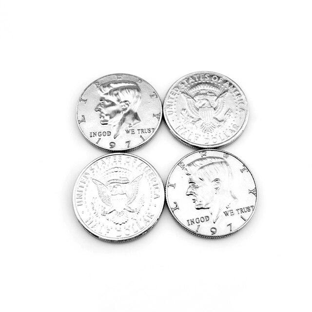 Monedas De Medio Dólar Trucos Magia Accesorio Envío Gratis Moneda Normal Sin Instrucciones
