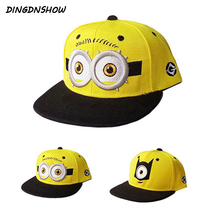[DINGDNSHOW] 2019 Fashion Baseball Cap Kids Cartoon Hip Hop Lovely Minions Cotton Summer for Boys and Girls