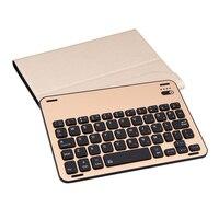 Съемный Bluetooth Беспроводной клавиатура + кожаный чехол + Магнитный зарядный кабель Планшеты клавиатура для iPad Mini 4