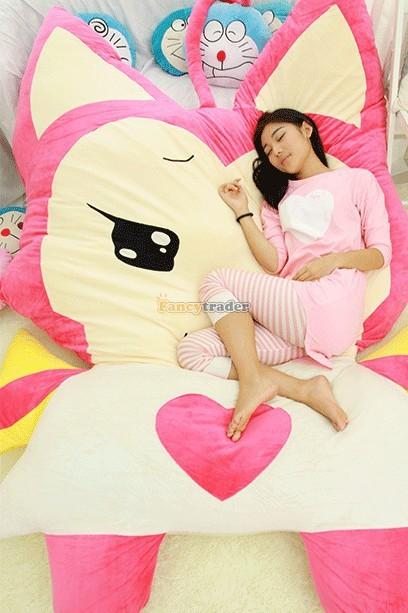 Fancytrader 230cm X 165cm Huge Giant Pink ALI Fox Bed Carpet Sofa Tatami, Free Shipping FT90360 (7)
