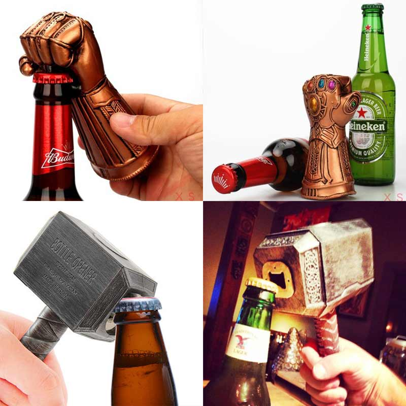 NEW Beer Bottle Openers Multifunction Hammer Of Thor Shaped Opener With Long Handle Bottler