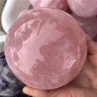 DHX SW 1pc about 9 10cm TOP Quality Pink Crystal SPHERE NATURAL SPECIMEN ROSE QUARTZ BALL Natural Crystal Healing Stone Reiki