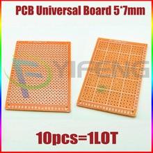 Electronic kit Circuit Breadboards 10pcs Blank PCB 5x7cm Breadboard Universal DI