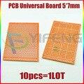 Электронный комплект макеты 10 шт. Пустой PCB 5x7 см Макет Универсальный DIY фототипная плата одной стороне - фото