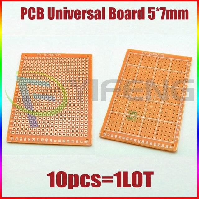 Electronic kit Circuit Breadboards 10pcs Blank PCB  5x7cm Breadboard Universal DIY Phototype Board Single Side