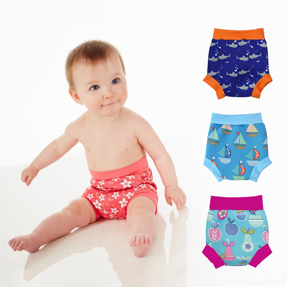 Leakproof Swimming Nappies High Waist Baby Reusable Swim Diapers Baby Bathing Suits Newborn Boys Girls Printed Swimming DiapersLeakproof Swimming Nappies High Waist Baby Reusable Swim Diapers Baby Bathing Suits Newborn Boys Girls Printed Swimming Diapers
