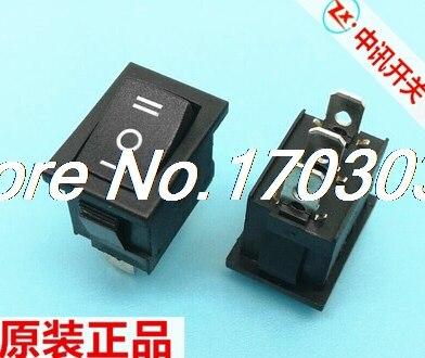 200 pièces interrupteur à bascule KCD1 ON/OFF/ON noir 3pin 6A 10A