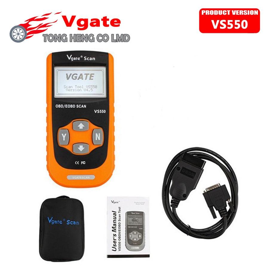 Цена за Свободный Корабль Vgate VS550 МОЖЕТ OBD EOBD Сканер Диагностический Сканер Авто Диагностики Автомобилей Diagnostico OBD2 Escaner Automotriz VS 550