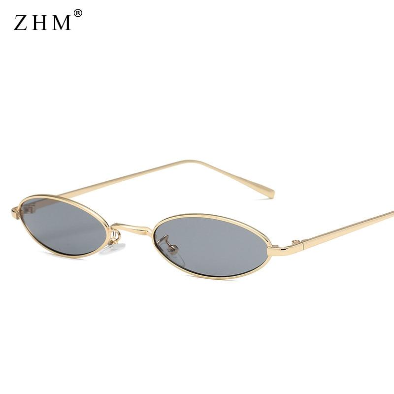2018 gafas de sol ovales pequeñas para hombres retro marco de metal - Accesorios para la ropa - foto 3