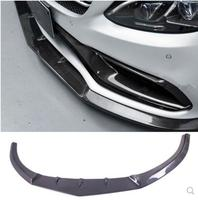 JIOYNG Carbon Fiber CAR FRONT LIP BUMPER SPOILER COVER FOR Benz C Class W205 C63 AMG Coupe 2015 2016 2017 2018 BY EMS MTC STYLE