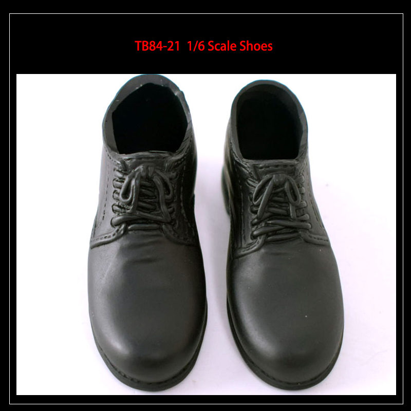 """1//6th Black hollow PU Leather Shoe model For 12/"""" male action Figure doll"""