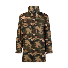 Women Loose Camouflage Stand Collar Jacket