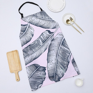 Image 2 - 1 Ps Chic Flower Pattern Unisex Cooking Dining Kitchen BBQ Restaurant Cleaning Waterproof Waitress Housework Aprons Dropshipping
