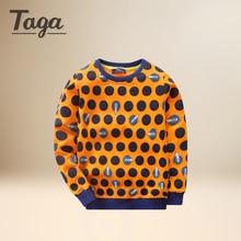 TAGA Spring Autumn 100% Cotton Kids T Shirt Polka Dot Long Sleeve Baby Boys Girls T-Shirt Children Pullovers Tee Boys Clothes