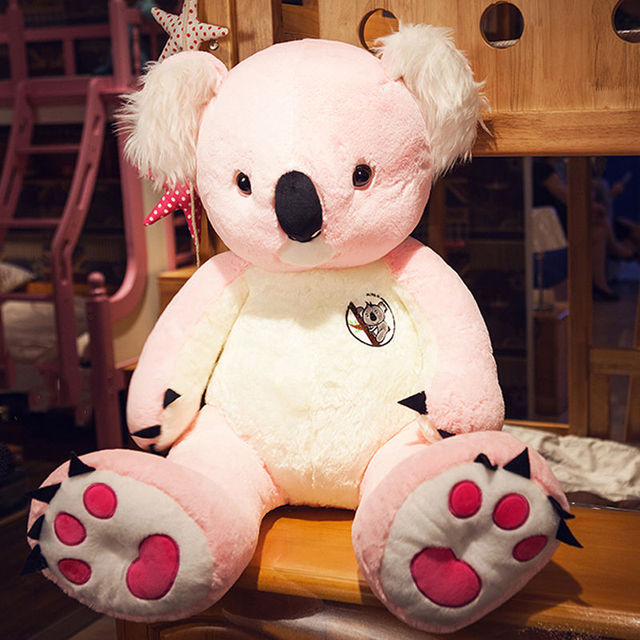 80cm Giant Pink Australia Koala Plush Soft Toy Doll Stuffed Animal Birthday Gift