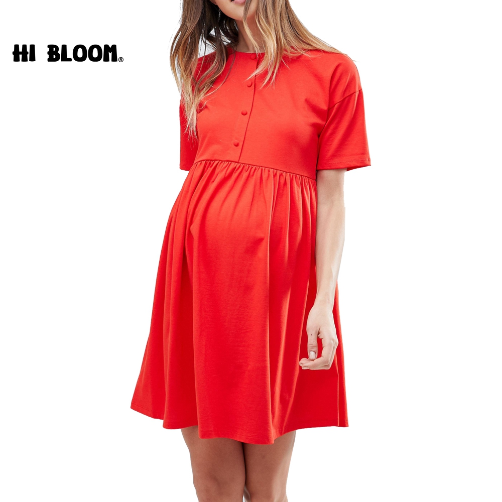 Newest Casual Maternity Dresses Red Dress For Pregnant Women Lycra Maternity Clothes Pregnancy Dresses photo shoot lycra knee length maternity dress for women pregnant trendy pink sleeveless tank dresses maternity clothes for expecting moms