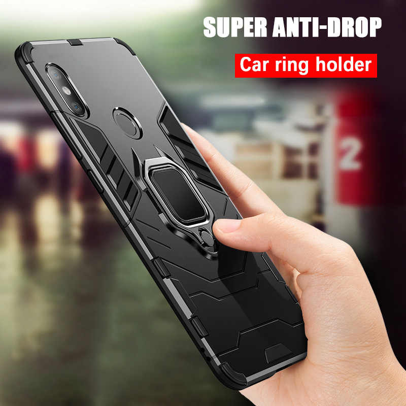 Hybrid Hard PC + Soft TPU Case For Xiaomi Mi 8 SE A1 A2 Stand Back Support Car 360 Magnetic Holder Cover For Xiaomi Mi Max 3 2