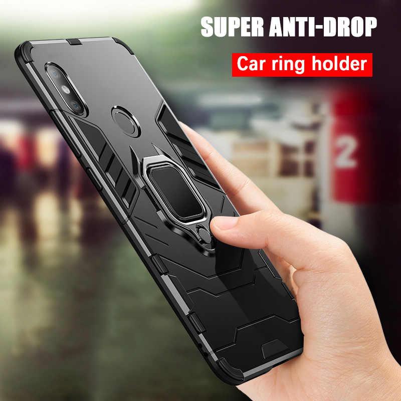 Hibrid Sert PC + Yumuşak TPU Kılıf Xiao mi mi 8 SE A1 A2 STANDı SıRT Desteği Araba 360 manyetik Tutucu Kapak Için Xiaomi mi mi Max 3 2
