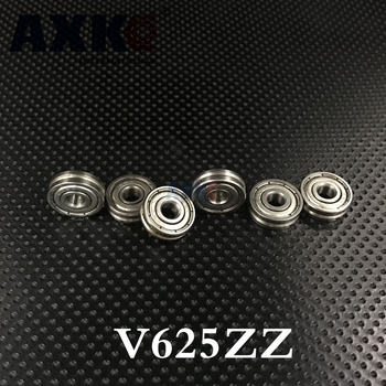 V625zz V625 Neue Ankunft Rodamientos Rolamentos 20 stücke 0,5mm Tiefe Metall V Nut Leichtathletik-führungsrolle Schiene Kugellager Rad 5*16*5mm