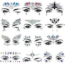 New Hot DIY Fashion Face Jewelry Drill Boby Art Masquerade Nightclub Party Decorative Bling Women Temporary Tattoos