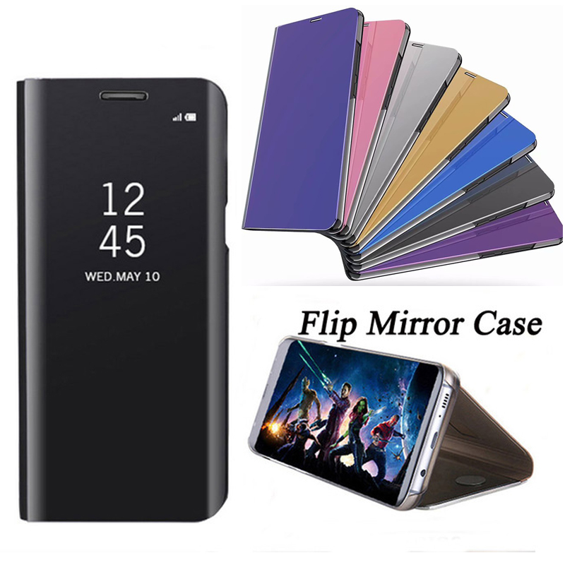 For Xiaomi Mi A1 Case Smart Flip Cover Leather 5X Phone Mi5X Clear View Mirror for