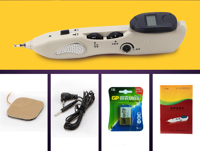 STIMULATOR CE LCD ELECTRONIC Automatically acupuncture pen Free acupoints LY-508B english spanish chinese version ly 508b detector lcd electronic acupuncture device needle auto find massage points stimulator