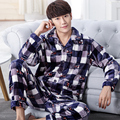 New winter spring long sleeve man pajamas men sleepwear Warm coral fleece Leisure Home clothes Thick flannel lounge pajamas set