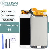 Dinamico G900 Lcd Repair Part For Samsung Galaxy S5 Lcd G900 G900F Display With Touch Screen Digitizer Assembly Free Ship+Tools