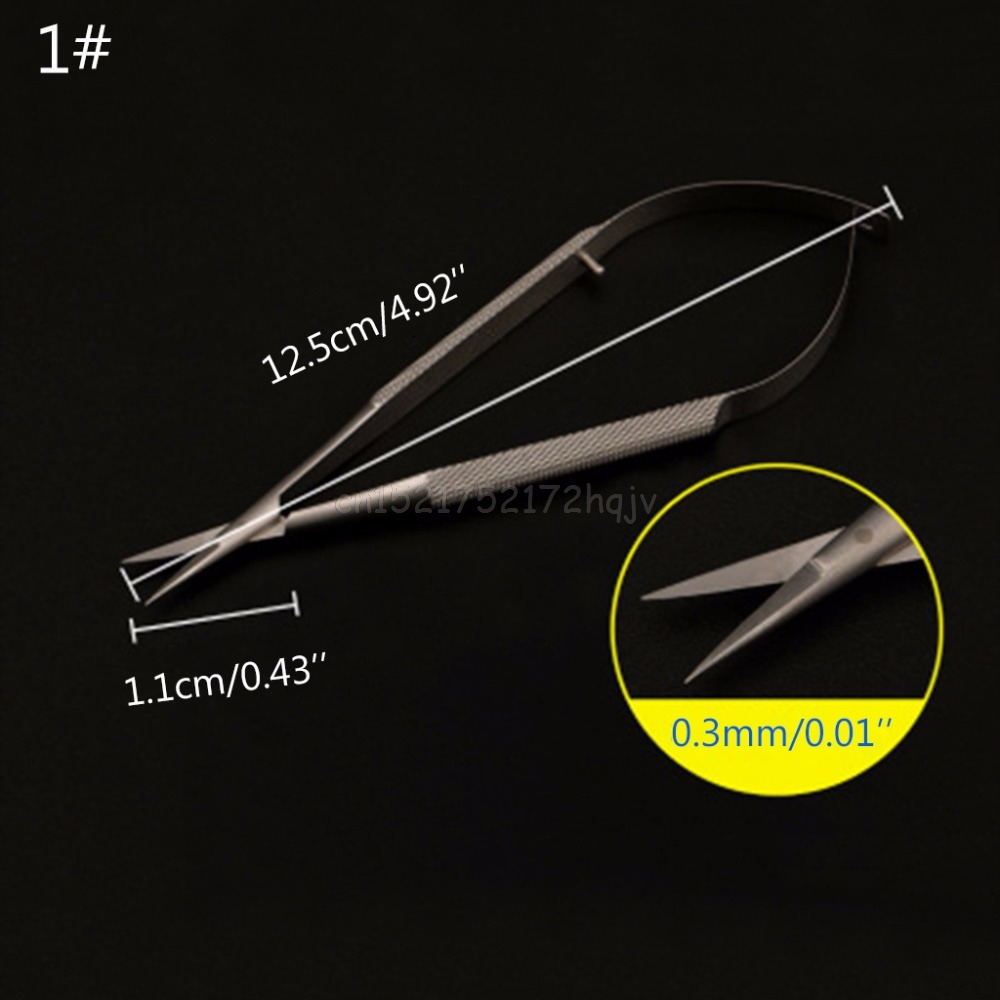 Microscopic Scissor Forcep Probe Micro Hook Tweezer Spatula 12cm Stainless Steel Micro Tweezer O10 Dropship