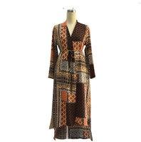 פרח הדפסת אופנה בגדי ערב הסעודית מסורתי jilbab שמלת גלימה אסלאמית abayas לנשים